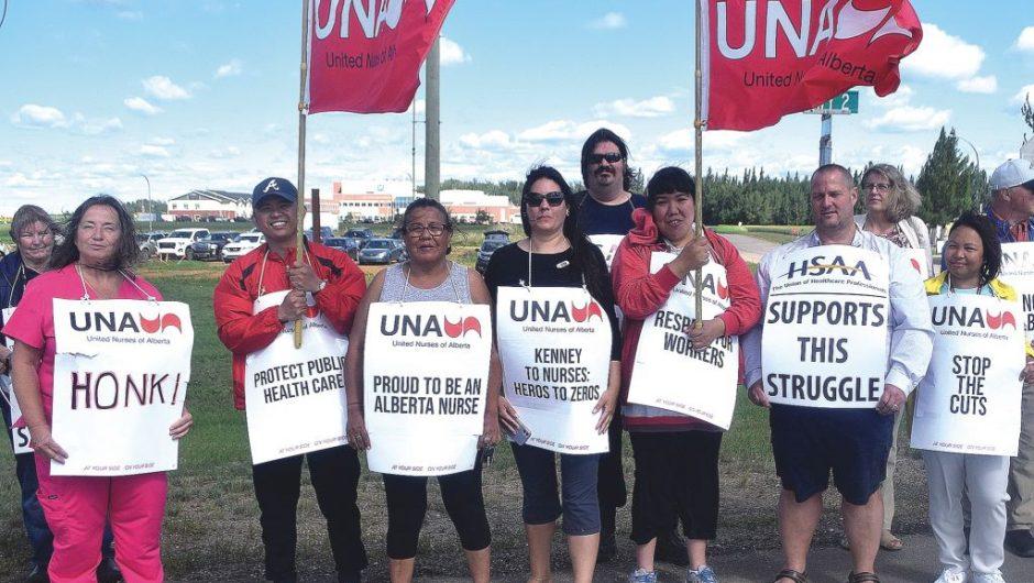 Nurses fight for local health care